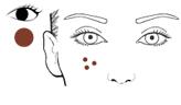 Mine brune pour dessiner des taches de rousseur